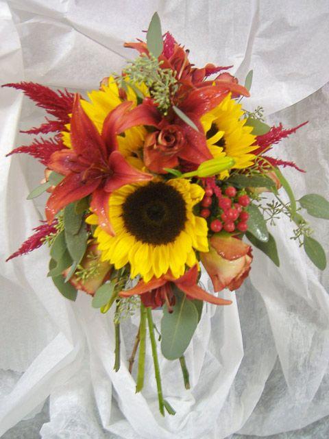 Bouquet sposa con girasoli esempi8   Look Sposa