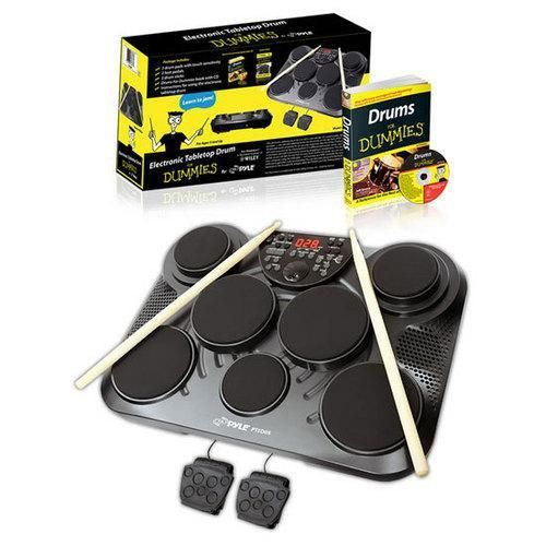 Electronic Tabletop Digital Drum Kit w/7 Pad Digital Drum Kit & Instru – QR Code Shopping, Shoppable Posters, Flyers & Catalogues Online & Offline!