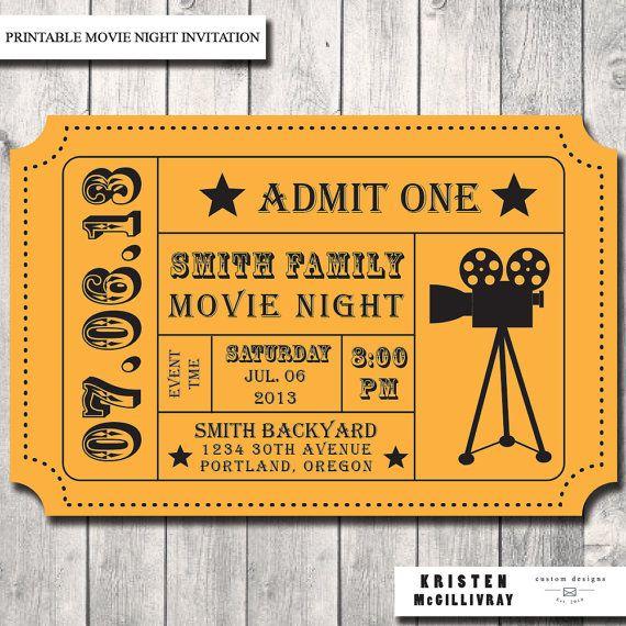 Best 25+ Movie party invitations ideas on Pinterest   Backyard ...