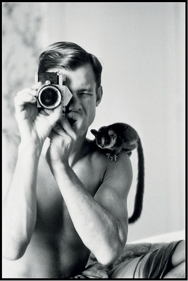 Peter Beard:  black and white Self Portrait  (1968)