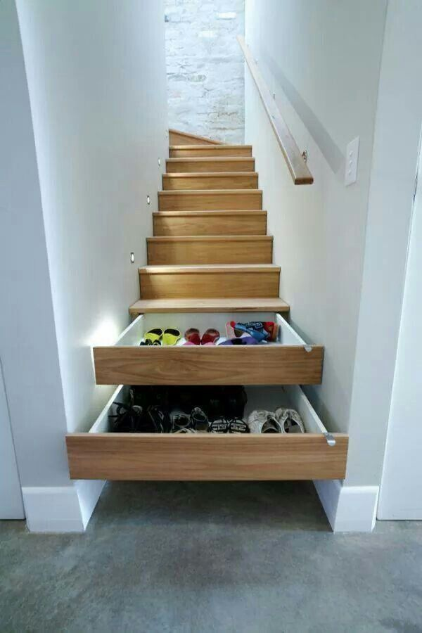 Instead Of Letting Your Shoes Clutter Up Your Entrance Way Or Take Up  Valuable Closet Space Try This Out. Transform Some Stair Steps ...