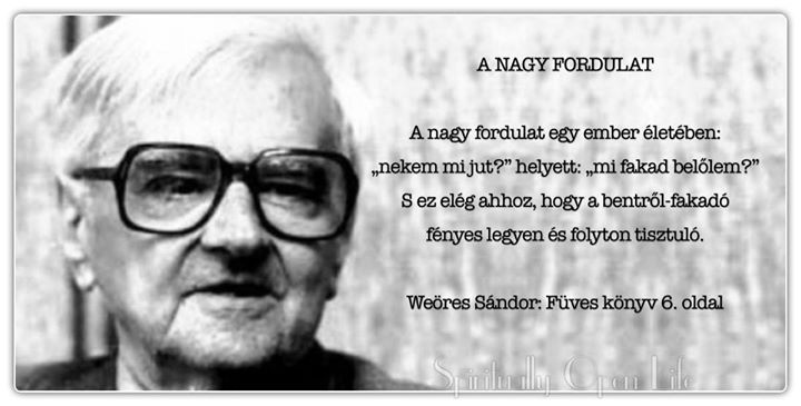 Weöres Sándor idézete az önmegvalósításról. A kép forrása: SOL