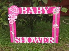 Bay shower baby girl photo frame cuadro tematico made by Thelma Villa