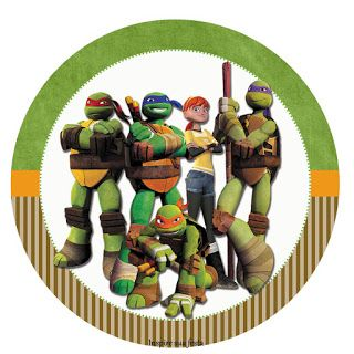 Tortugas Ninja: Toppers y Wrappers para Cupcakes para Imprimir Gratis. | Ideas y material gratis para fiestas y celebraciones Oh My Fiesta!