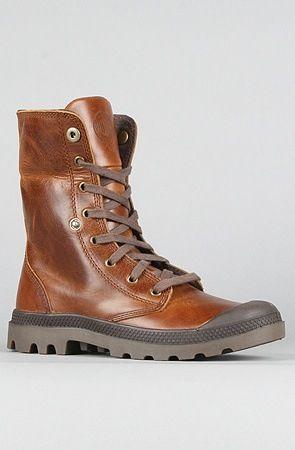 Palladium boots - leather version of French Foreign Legion vintage canvas desert boots (also originally made by Palladium)