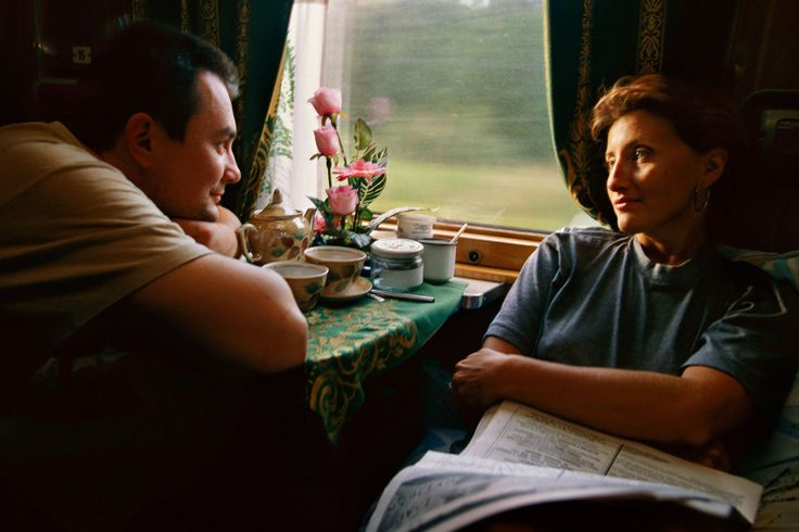 Picture of people on the Transsiberian Railway