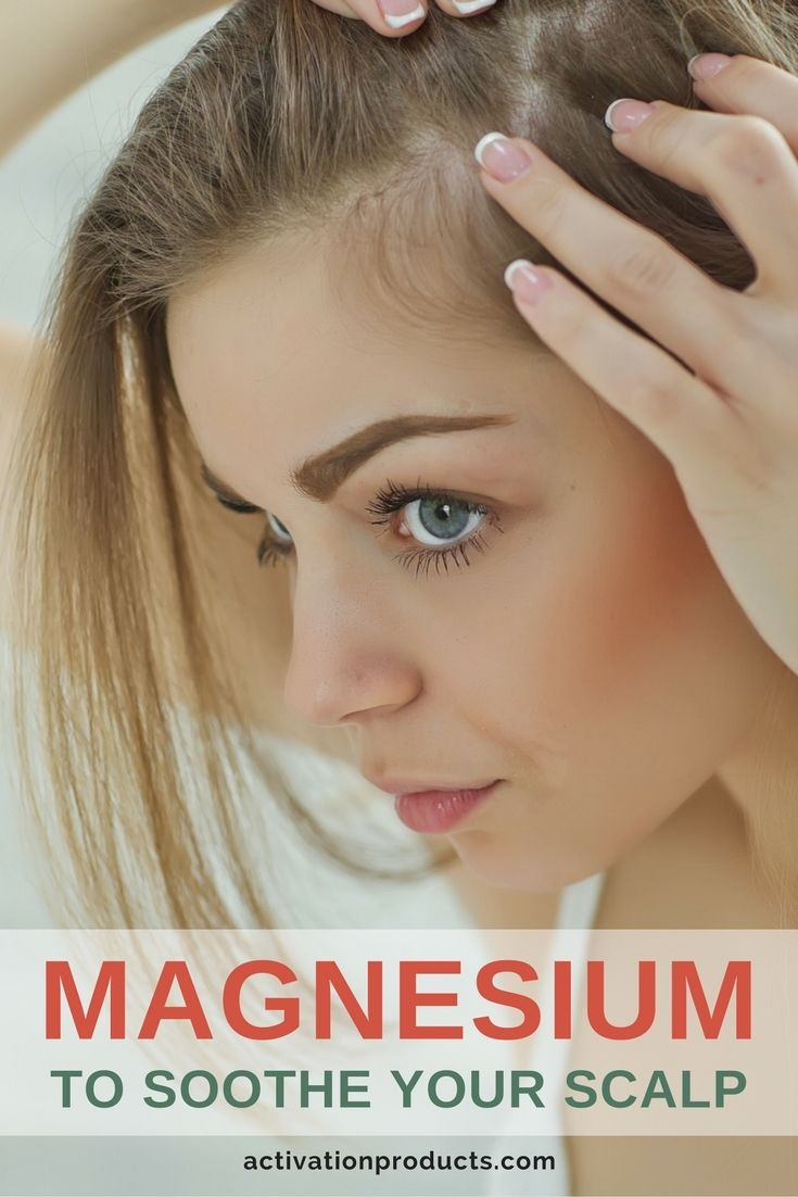 Topical magnesium can be used to soothe your scalp. It will fight off conditions caused by sweat, hair products or sebum (natural oils that can sometimes be over-produced).   With daily use, you'll find that your scalp is back to normal, with no dandruff, build-up or itchiness in a week or two. Over time your hair will get stronger and thicker and will develop a healthy shine.