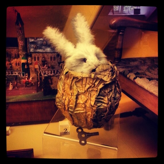 Pop up toy rabbit. Worcestershire County Museum, Hartlebury Castle.