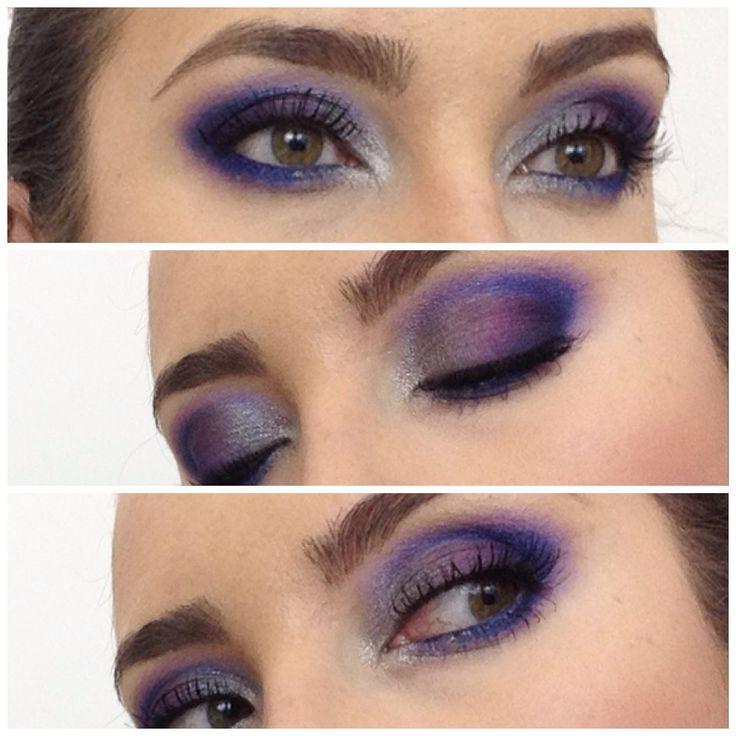 Granatowo fioletowy makijaz (wieczorowy, klubowy, imprezowy) blue make u...