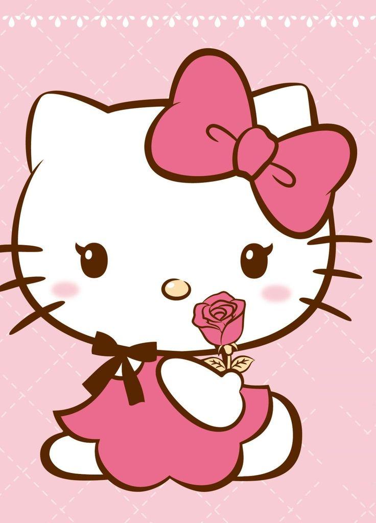 "Hello Kitty 😻💕 "" I Love Watermellon."" Hello kitty"