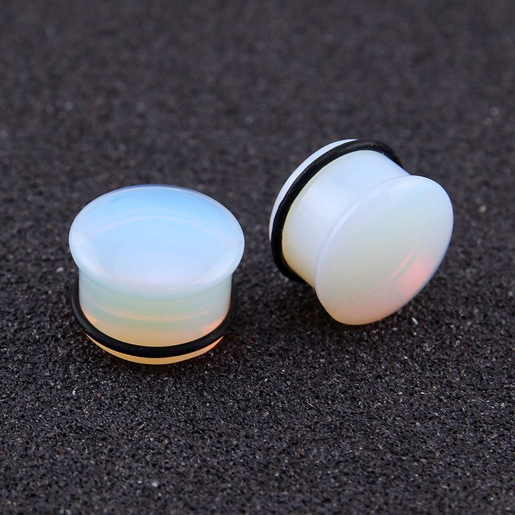 5~18mm Opalite Plugs and Tunnels Natural Stone Ear Expander O-ring Ear Stretching Gauge Kit Piercing Body Jewelry Plug Tunnel