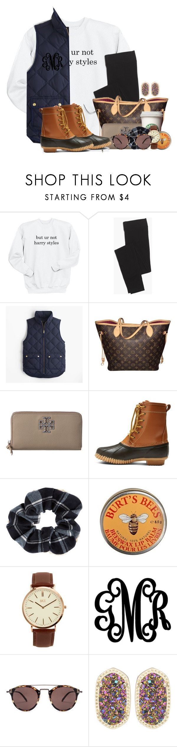 """Don't even have to talk to him and he makes my heart flutter"" by flroasburn ❤ liked on Polyvore featuring Madewell, J.Crew, Louis Vuitton, Tory Burch, Merona, Accessorize, Burt's Bees, BKE, WALL and Oliver Peoples"