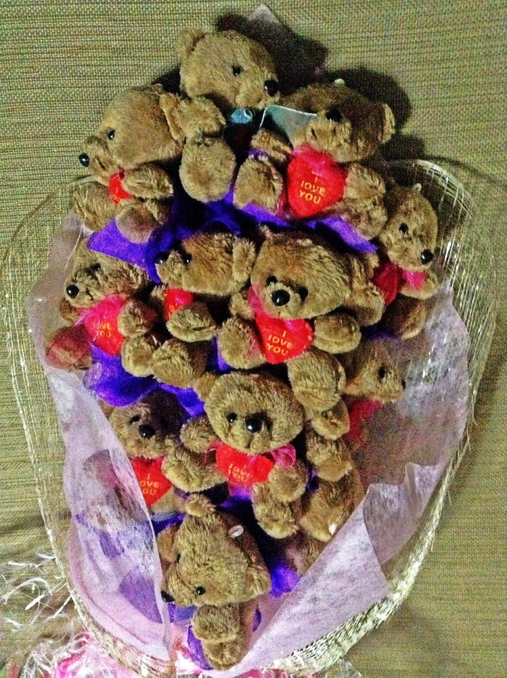 Teddy Bear Bouquet Diy Pinterest Bears Teddy Bears