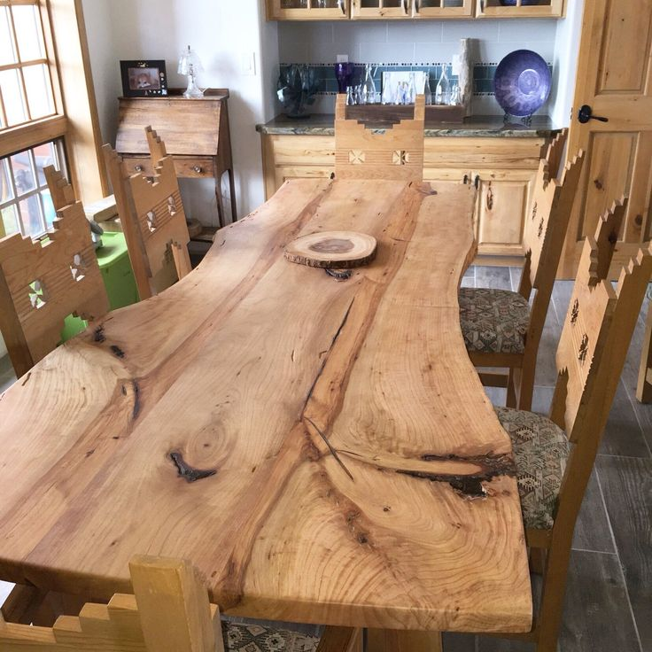 Check Out Our Newest Dining Table! Available Now... Live Edge Alligator  Juniper