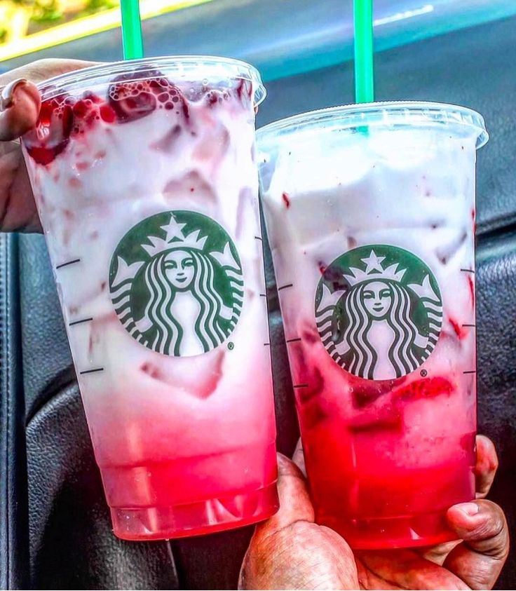 Starbucks Ombre Pink Drink: Cool Lime Starbucks Refreshers™ Beverage with coconut milk and a splash of Teavana® Shaken Iced Passion Tango™ Tea
