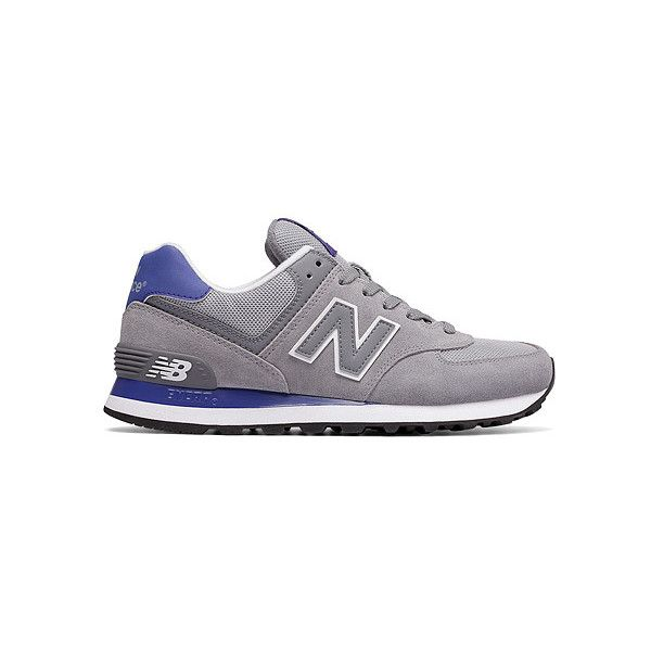 New Balance WL574  Sneakers ($75) ❤ liked on Polyvore featuring shoes, sneakers, new balance shoes, new balance footwear, new balance, mesh shoes and new balance trainers