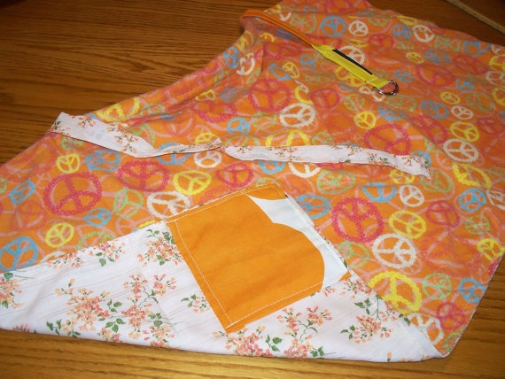 ORANGE NURSING COVER  Lined with orange by PlainnSimplebyMimi