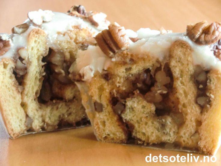 Pecan Vanilla Cinnamon Buns | Det søte liv