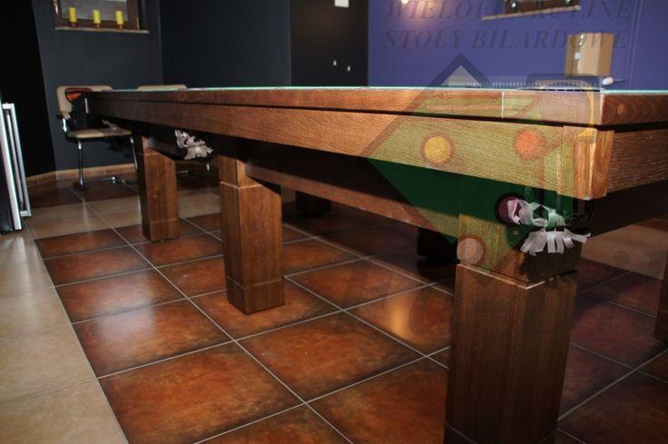 Zdjęcia stołu Monster 9ft, stół bilardowy Monster 9ft z litego drewna