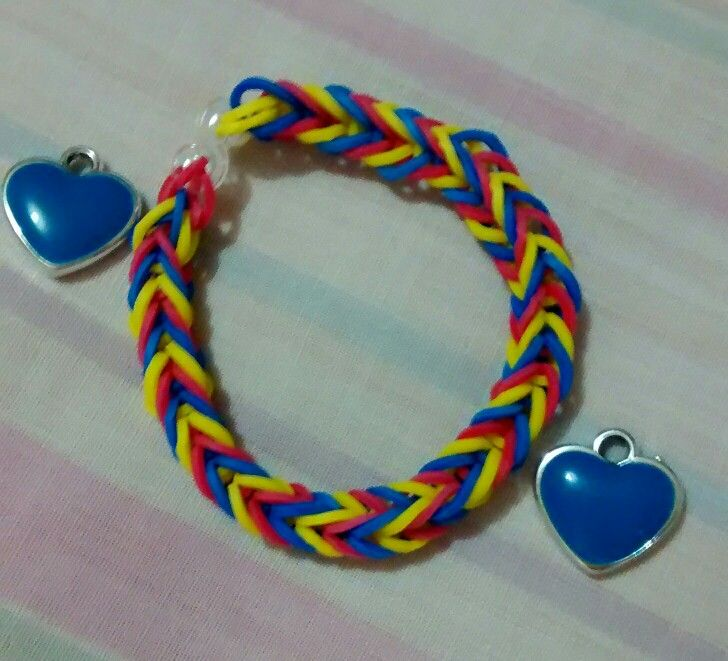 #Loombands Colombia Flag
