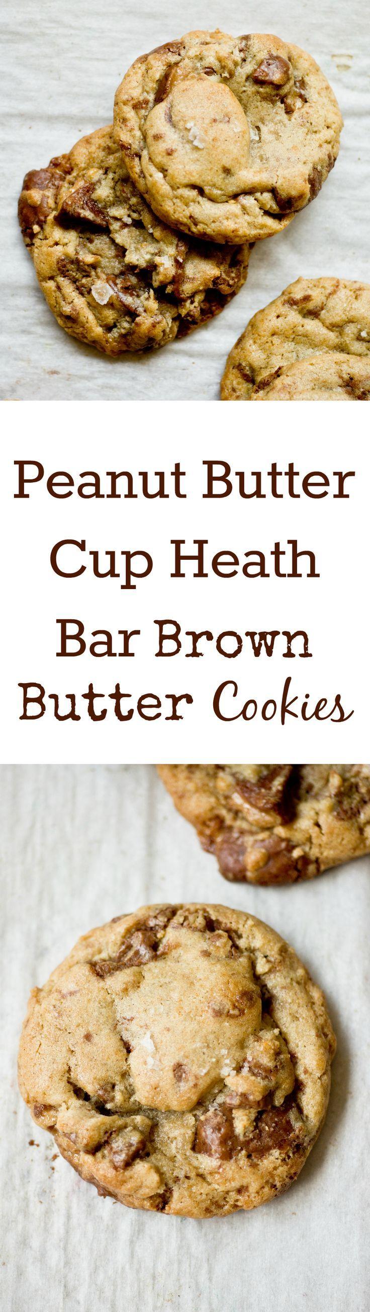 Amazing Peanut Butter Cup Heath Bar Brown Butter Cookies