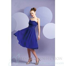 A-Line Chiffon Scalloped-Edge Sleeveless Bridesmaid Dress TWD4987