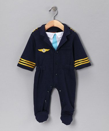 Take a look at this Navy Airline Pilot Playsuit - Infant by Aeromax on #zulily #fall today!