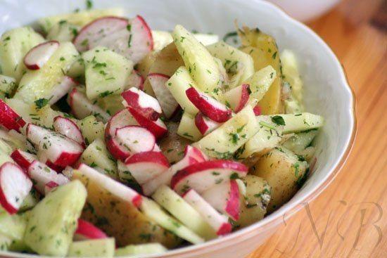 Фантастически вкусный картофельный салат с редисом и огурцами от Инны | Кулинарные Рецепты