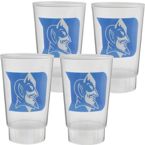 Duke Blue Devils 4-Pack Plastic Cups - Clear by Hunter. $11.99. Have the drink of your choice with the Blue Devils player of your choice! This Duke Blue Devils Tumbler 4-Pack is the perfect way to watch a game with your favorites. Features a vibrantly colored Duke Blue Devils logo all the way around each tumbler.