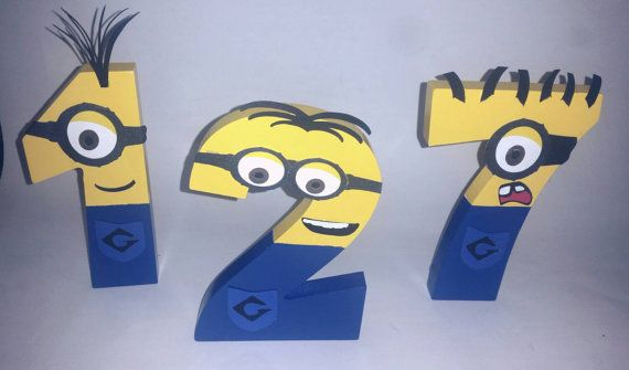 Wooden Minion Letters, Minion Name Personalized, Minion Birthday, Minion Party, Minion Room, Minion Decor, Minion Decorations