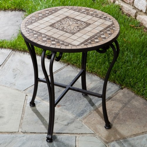 Find It At The Foundary   Alfresco Home San Marco Mosaic Side Table $195