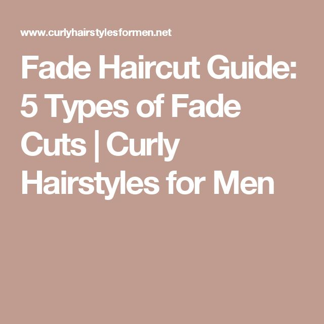 Fade Haircut Guide: 5 Types of Fade Cuts   Curly Hairstyles for Men