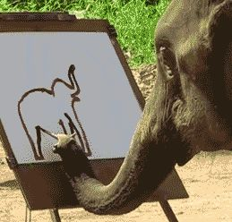Elephant Painting An Elephant Is Definitely Not Irrelephant. That elephant can draw an elephant better than I can