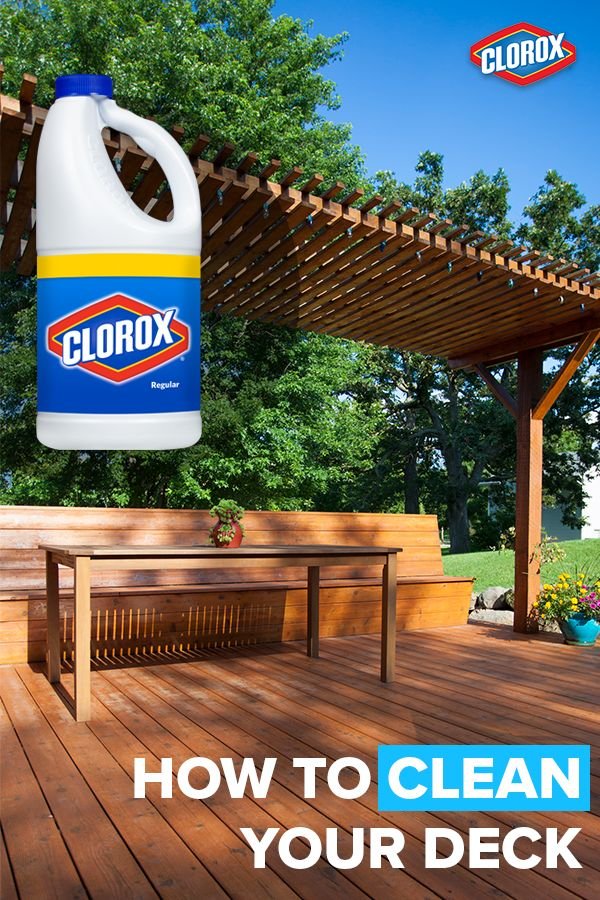 Doll up your deck! Revive that weathered wood with these handy solutions. Patio moss and mildew stains can be unsightly, slippery and dangerous. Check out our list of handy tips and instructions on just how to clean decks with Clorox® Regular Bleach. Click to learn more.