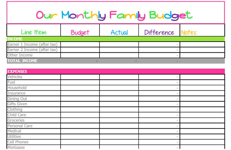 38 best budgeting images on Pinterest Budget binder, Monthly
