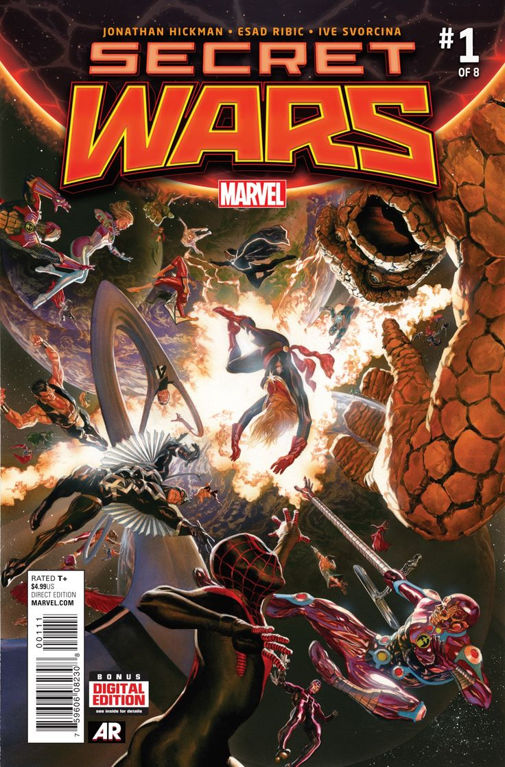Secret Wars #1, By Jonathan Hickman, Esad Ribic and Ive Svorcina It's funny that the two big comic companies seem to be doing a similar event at the same time. D..., #All-Comic #Comics #Cyclops #EsadRibic #IveSvorcina #JeremyMatcho #JonathanHickman #Marvel #SecretWars