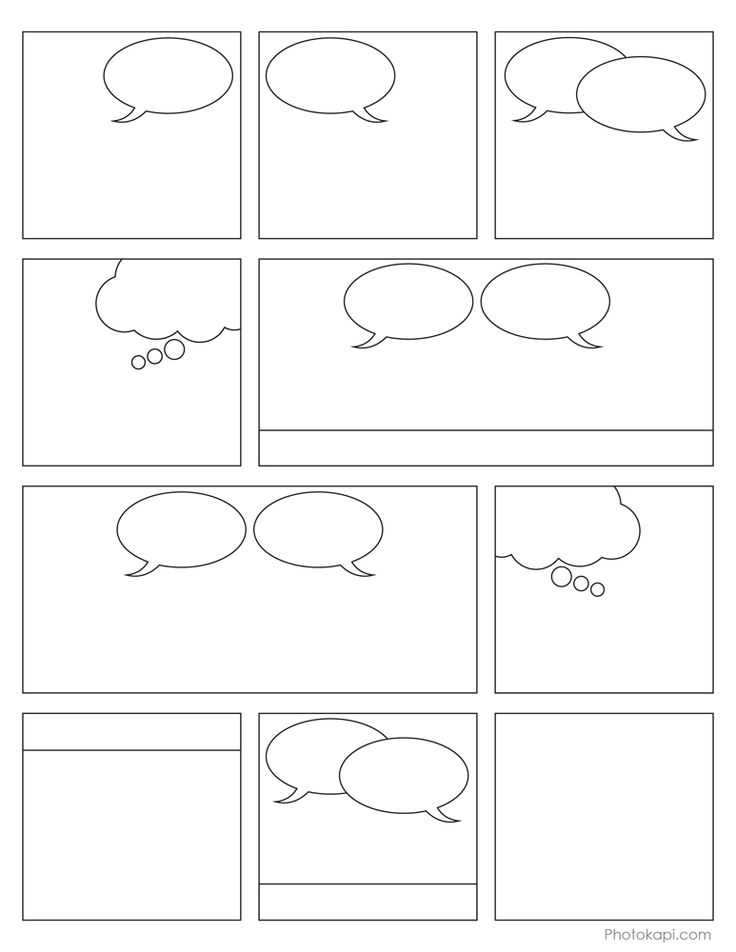 Free Printable Comic Book Panels.  Graphic novel inquiry project perhaps?
