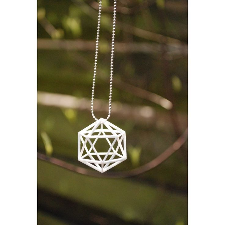 Convex Polyhedra ketting 3D Printed