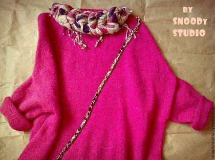 "Oversize свитер ""Razmahaika Style"" - фуксия,мохеровый свитер,hand made// oversize sweater by SNOODy STUDIO"