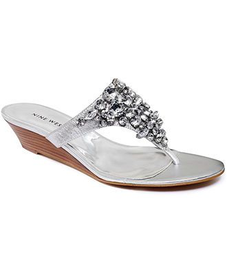 Nine West Shoes, Vananda Demi Wedge Thong Sandals - Sandals - Shoes - Macy's