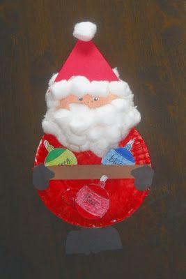 Paper Plate Santa Pocket Chart