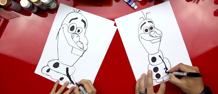 How To Draw Olaf From Frozen » Art for Kids!