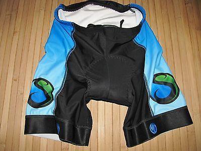 Womens TRIATHLON Shorts CYCLE Bike Size SMALL Polyester SPANDEX Black TEAM BSC