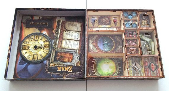 Elder Sign board game wood insert to store by BoardGamesFactory