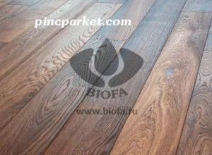 Фото деревянных полов, обработанных красками BIOFA   biofa