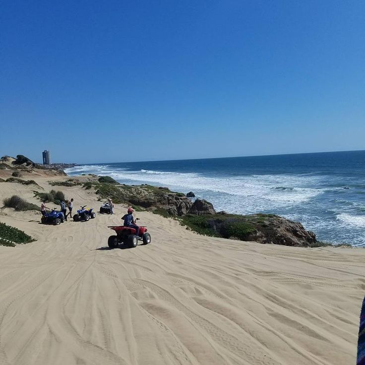 Feeling adventurous? Then hit the sand dunes, great for riding ATV's and sand boarding! Inspired? This is #Rosarito Baja California, your next vacation spot! #BajaCalifornia #DiscoverBaja #DescubreBC #EnjoyBaja #Motors #Baja #BC #Beach #Playa #Sand #Arena #BajaAdventure  Dune-adventure by itsjust_childish