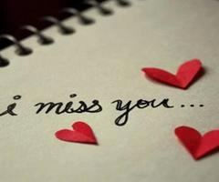 I Miss You Love Hearts Notebook Writing