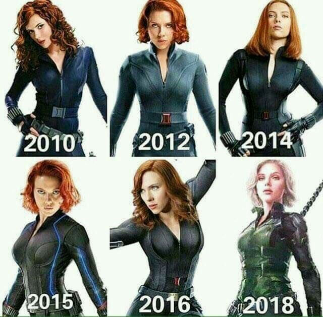 The Evolution Of A Deadly Woman Black Widow Marvel Marvel