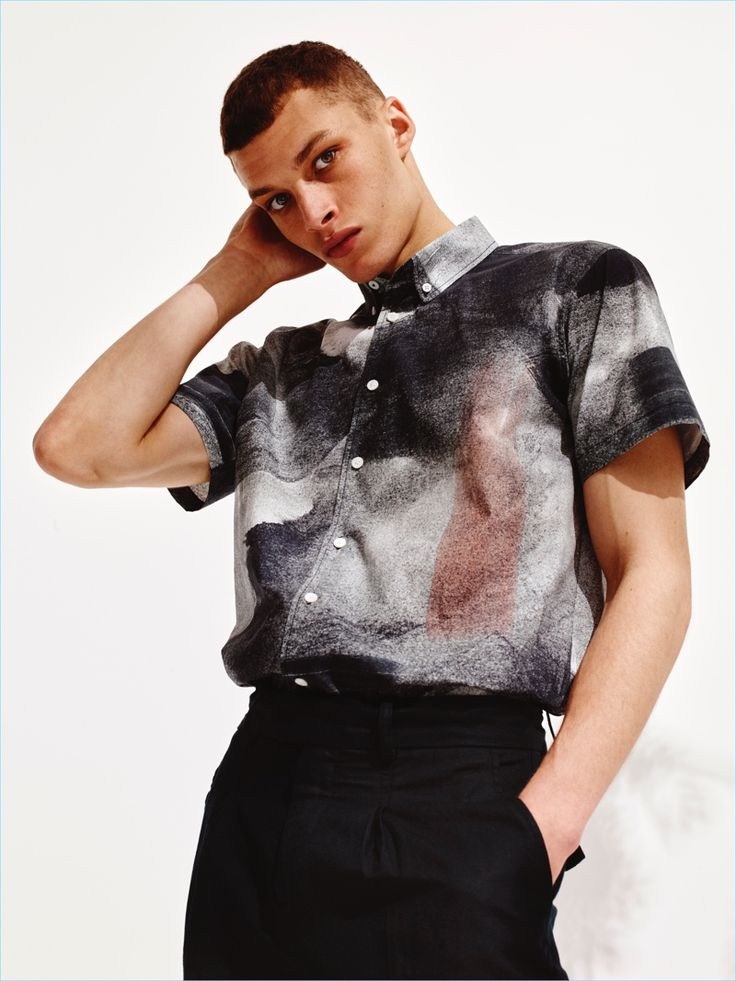 Revisit 90s style with a smart short-sleeve printed shirt from Saturdays NYC.