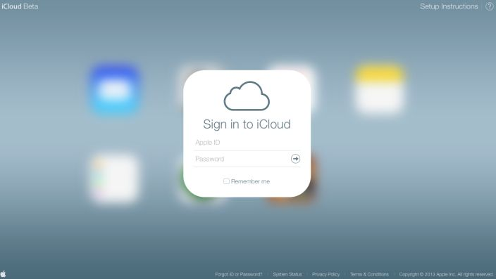iCloud.com beta updated with iOS 7 design